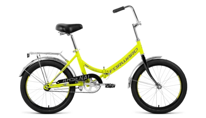 "Велосипед FORWARD ARSENAL 20 1.0 14"" Светло-зеленый/серый (RBKW0YN01007)"