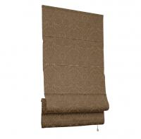 Римская тканевая штора, Эмоджи, коричневый, 160х160 см