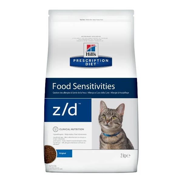 Корм для кошек Hill's Prescription Diet Z/D Feline Food Sensitivities при аллергии 2 кг