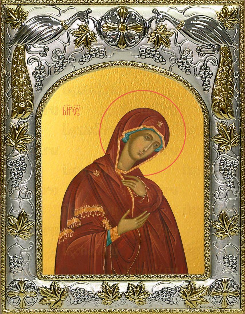 Деисусная икона Божией матери (14х18)