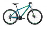 """Велосипед FORWARD APACHE 27,5 3.0 disc 19"""" Бирюзовый/светло-зеленый (RBKW0M67Q008)"""