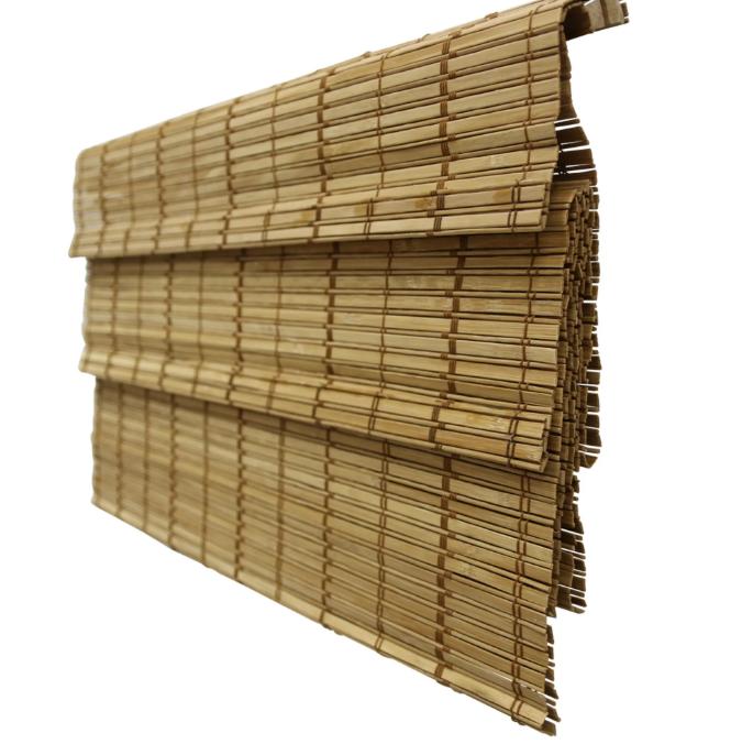 Римские шторы, бамбук, какао,  120х160 см