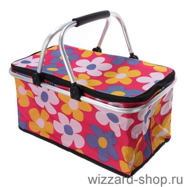 Термокорзина для покупок и пикника с цветочным принтом, 29 л