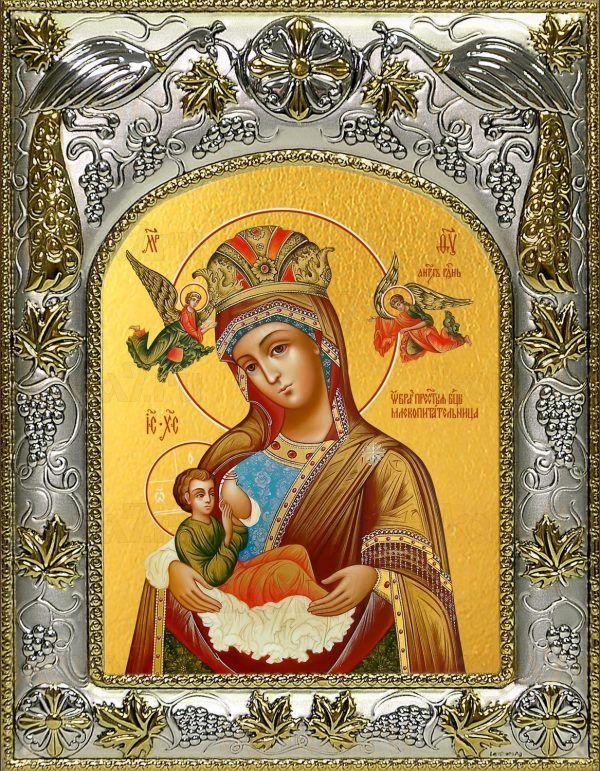 Млекопитательница икона Божией матери (14х18)
