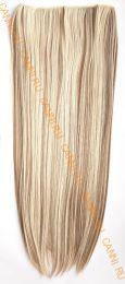 Искусственные термостойкие волосы на леске прямые №F009A/613 (60 см) - 100 гр.