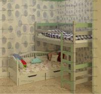 Кровать двухъярусная Аленка, любые цвета