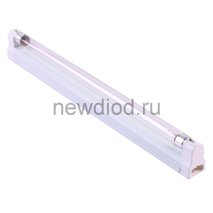 Светильник ультраф бактерицидный с лампой Т8 наклад без озонир 253,7нм корп белый ТМ Uniel