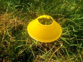 Фишки для разметки поля маркер малая 12 см желтая