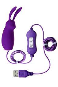 Вибропуля от USB в виде кролика Toyfa A-Toys Bunny фиолетовая, 6,3*2,6 см