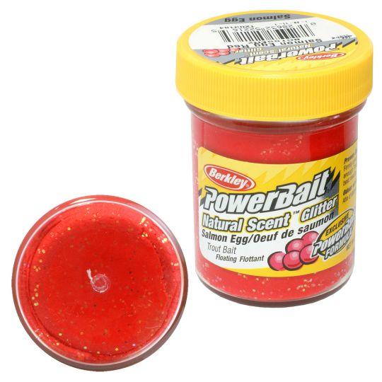 Паста форелевая Berkley Powerbait Natural Scent Glitter Trout Bait 50г Salmon Egg Red
