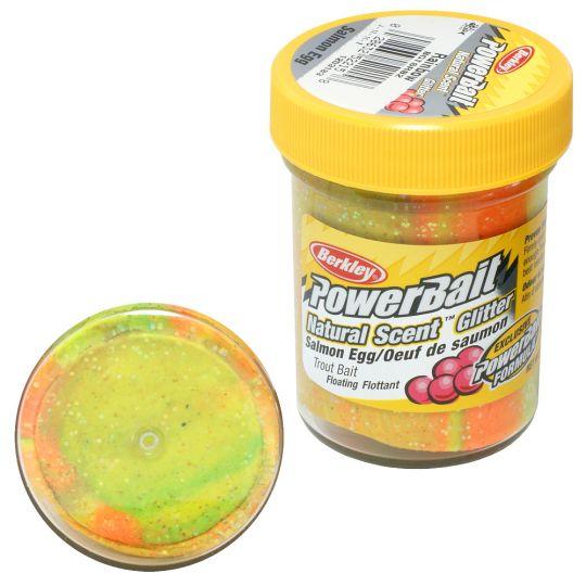 Паста форелевая Berkley Powerbait Natural Scent Glitter Trout Bait 50г Salmon Egg Rainbo