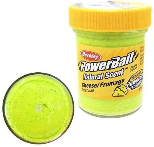 Паста форелевая Berkley Powerbait Natural Scent Glitter Trout Bait 50г Cheese Chart
