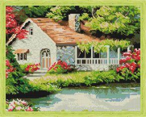 Алмазная мозаика «Отдых у реки» 40x50 см