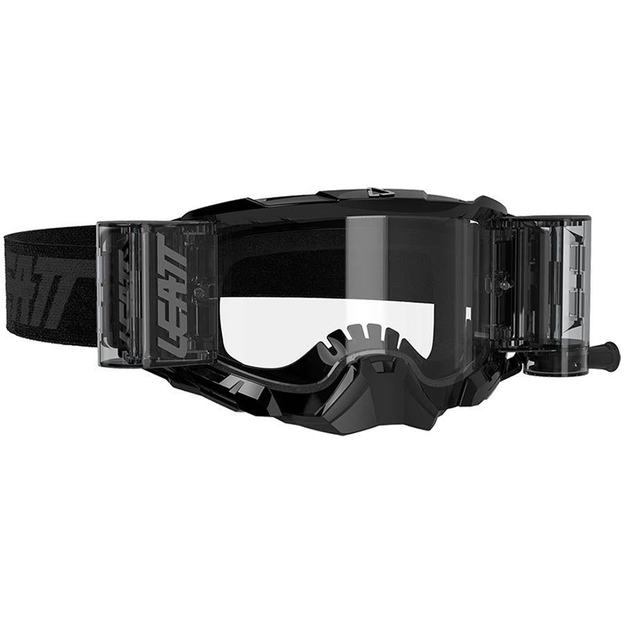 Leatt Velocity 5.5 Roll-Off Black/Clear 83% очки для мотокросса и эндуро с системой грязеочистки