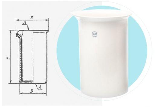 Фарфоровый химический стакан № 7,100/170 мм (1000 мл), (упаковка 5 шт)
