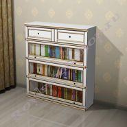 Книжный шкаф Лондон ЛИ-box  белый, белый с патиной