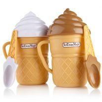 Стаканчик для приготовления мороженого ICE CREAM MAKER (АЙС КРИМ МЭЙКЕР), белый