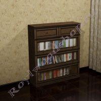 Книжный шкаф Лондон Ли-box  орех с патиной без декора