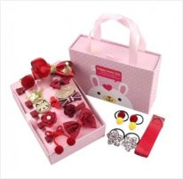 Подарочный набор заколок для девочек, 18 предметов, красный