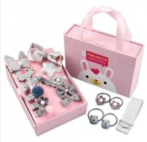 Подарочный набор заколок для девочек, 18 предметов, серый