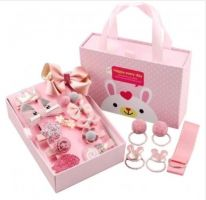 Подарочный набор заколок для девочек, 18 предметов, тёмно-розовый