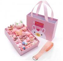 Подарочный набор заколок для девочек, 18 предметов, светло-розовый