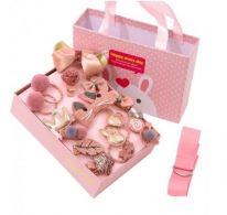 Подарочный набор заколок для девочек, 18 предметов, персиковый