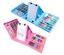 Набор для рисования со складным мольбертом в чемоданчике, 176 предметов, розовый