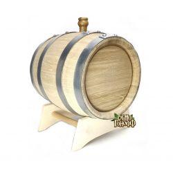 Бочка из колотого кавказского дуба терруарной сушки, 5 литров
