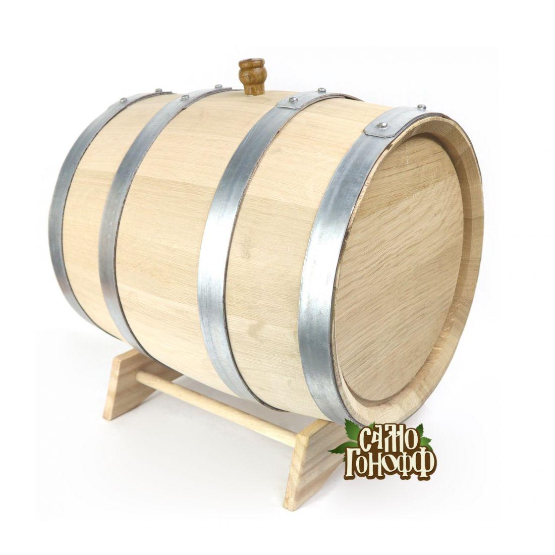 Бочка из колотого кавказского дуба терруарной сушки, 30 литров