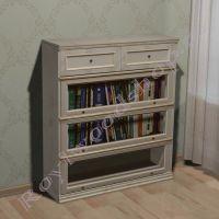 Книжный шкаф Лондон Ли-box  береза без декора