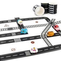 Игровой скотч с дорожной разметкой Умная автомобильная дорога, 72 мм.х 20 м.
