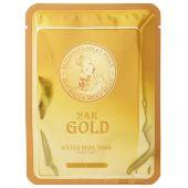 Тканевая маска для кожи лица с золотом и муцином улитки Elizavecca 24K Gold Water Dual Snail Mask Pack