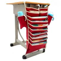 Подвесной органайзер для документов, красный