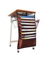 Подвесной органайзер для документов, коричневый