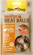 """GimDog Лакомство из курицы с морковью и семенами льна для собак - """"мясные шарики суперфуд"""" 70 г"""