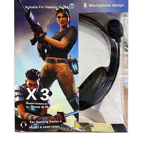 Игровые наушники с микрофоном X3
