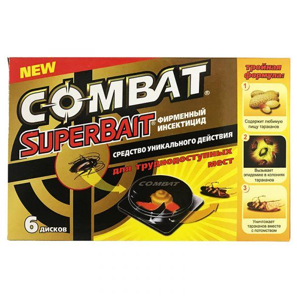 Ловушка для тараканов Combat SuperBait (6 дисков)