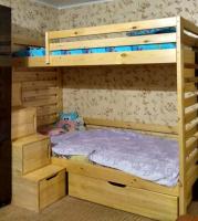 Кровать двухъярусная Классика Модуль №17 с лестницей-комод