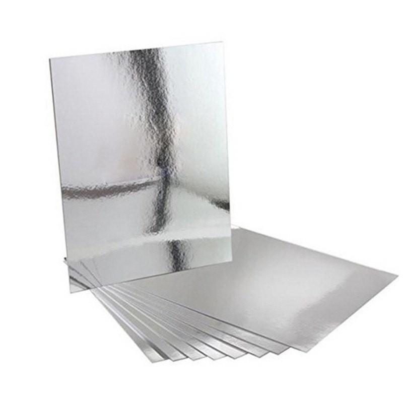 Зеркальная самоклеящаяся плитка 15х15 см, 9 шт