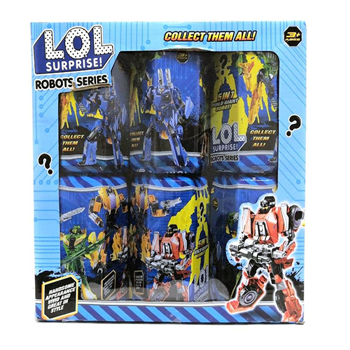 Набор трансформеров LOL Surprise Robots Series, 6 шт