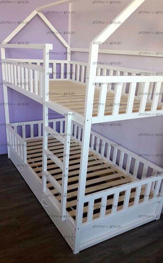 Кровать двухъярусная Домик Малинка Standard №31