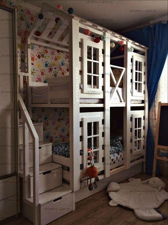 Двухъярусная кровать Домик Felicia №29