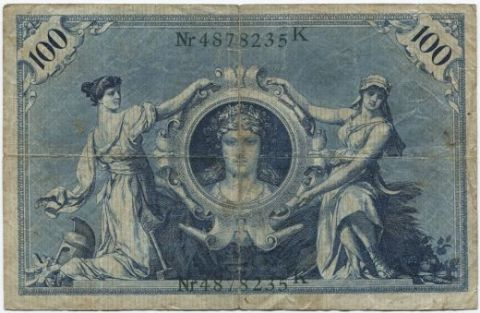 100 марок 1908 года Германия