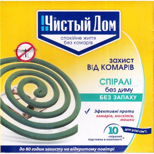 """Спирали от комаров """"Чистый Дом"""" (10 шт., с подставкой)"""