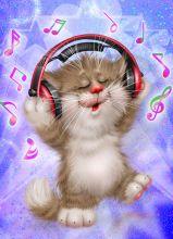 Почтовая открытка Музыка