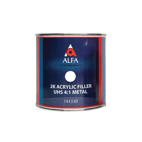 """Alfa 2К Акриловый грунт-наполнитель """"на металл"""" 4:1 FILLER UHS, название цвета """"Белый"""", объем 800мл."""