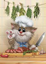 Почтовая открытка Шеф-повар