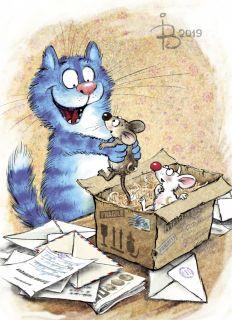 Почтовая открытка Мыши