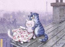 Почтовая открытка Париж